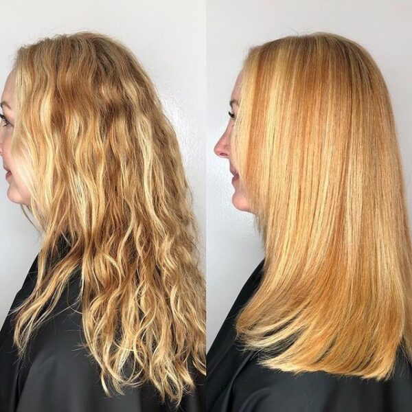 Before and After Using iCare Brazilian Blowout